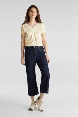 Striped Henley T-shirt, 100% organic cotton, YELLOW 3, detail