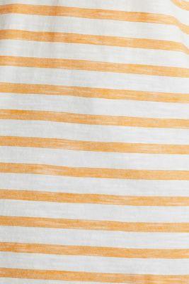 Striped Henley T-shirt, 100% organic cotton, ORANGE 4, detail