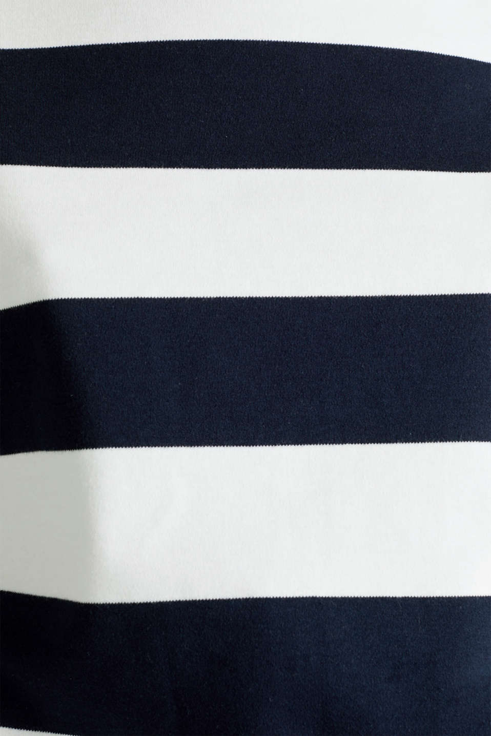 Top with band collar made of dense jersey, NAVY, detail image number 4