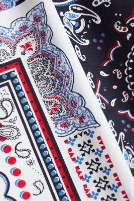Top with a bandana print, 100% organic cotton, WHITE, detail