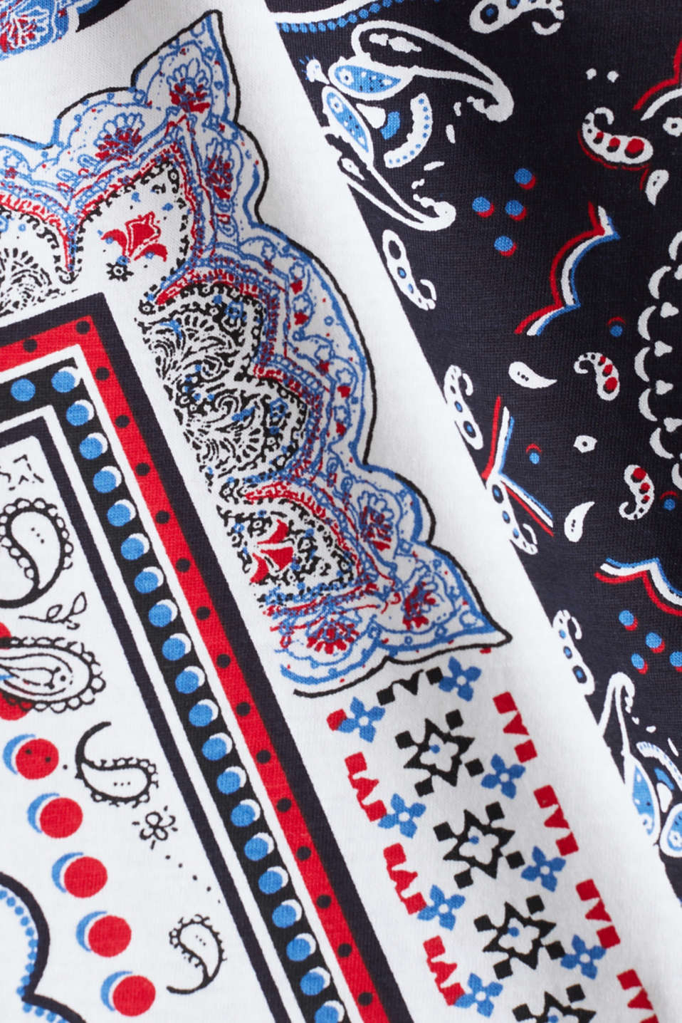 Top with a bandana print, 100% organic cotton, WHITE, detail image number 3
