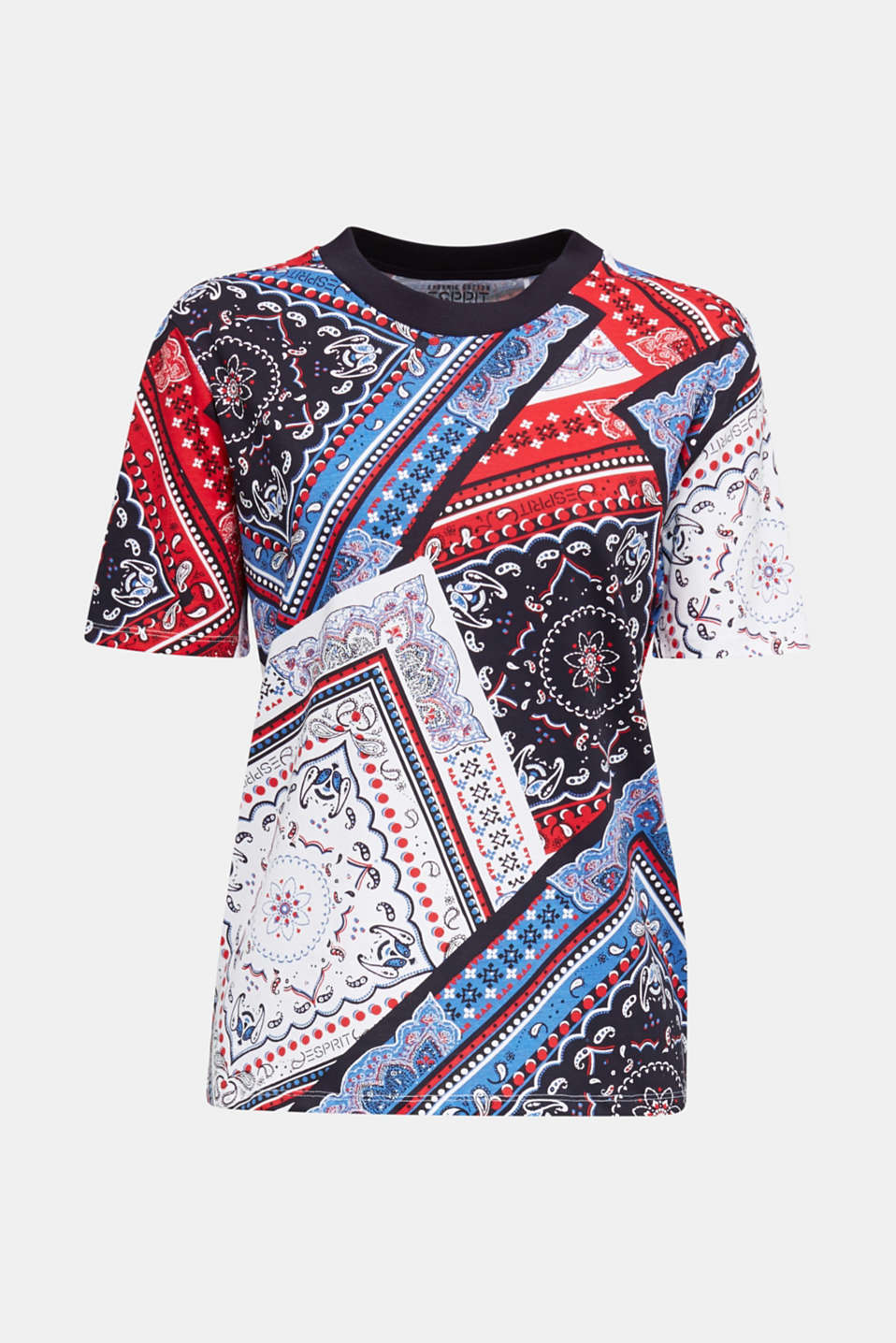 Top with a bandana print, 100% organic cotton, WHITE, detail image number 5