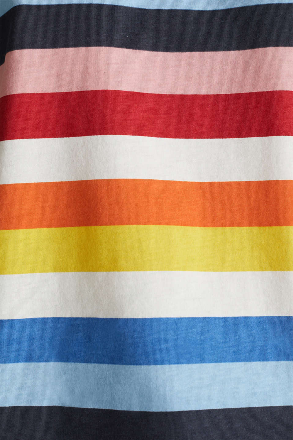 T-shirt with multi-coloured stripes, 100% cotton, BRIGHT BLUE 2, detail image number 3