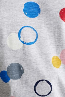 Melange T-shirt with a colourful print, LIGHT GREY 5, detail
