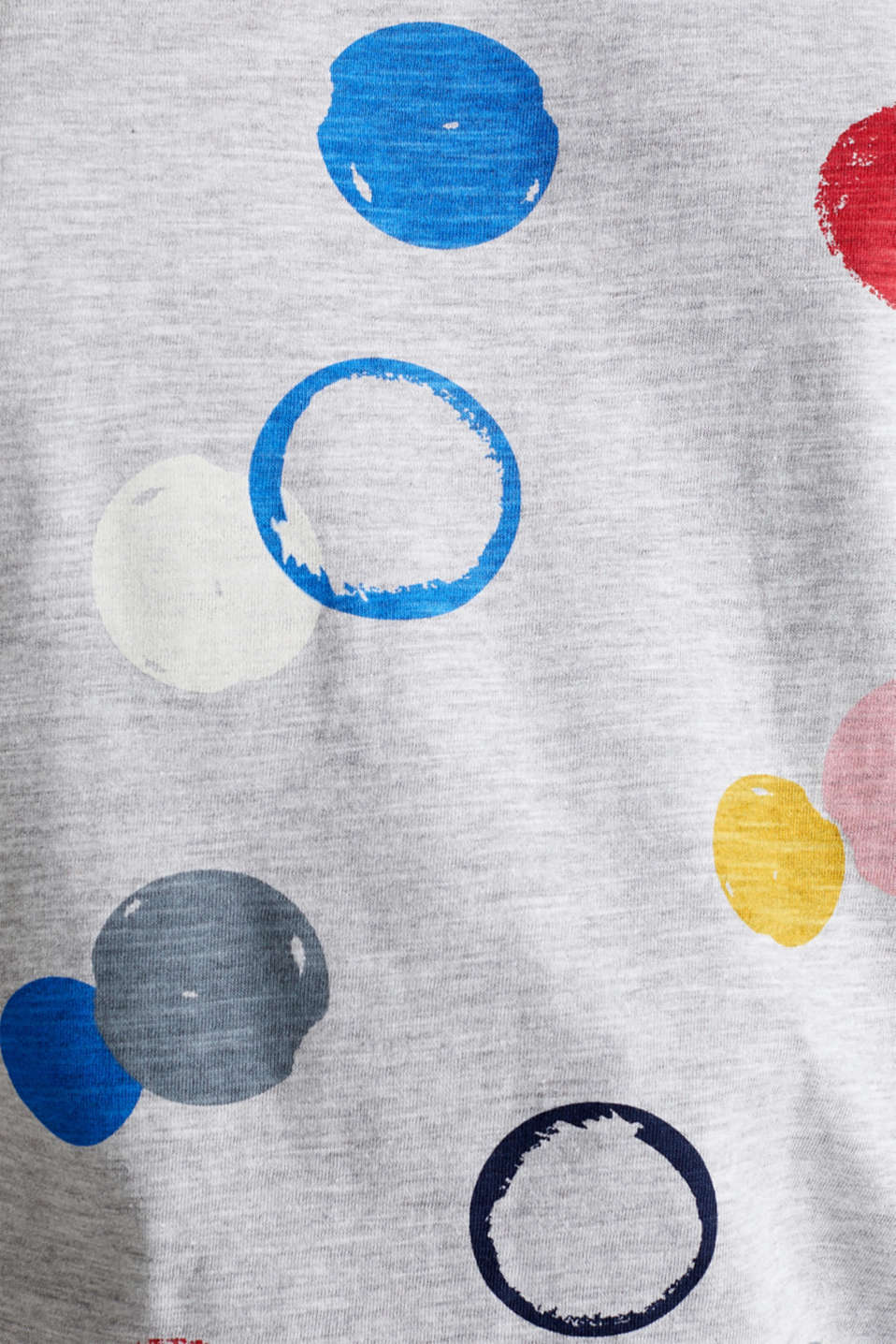 Melange T-shirt with a colourful print, LIGHT GREY 5, detail image number 4