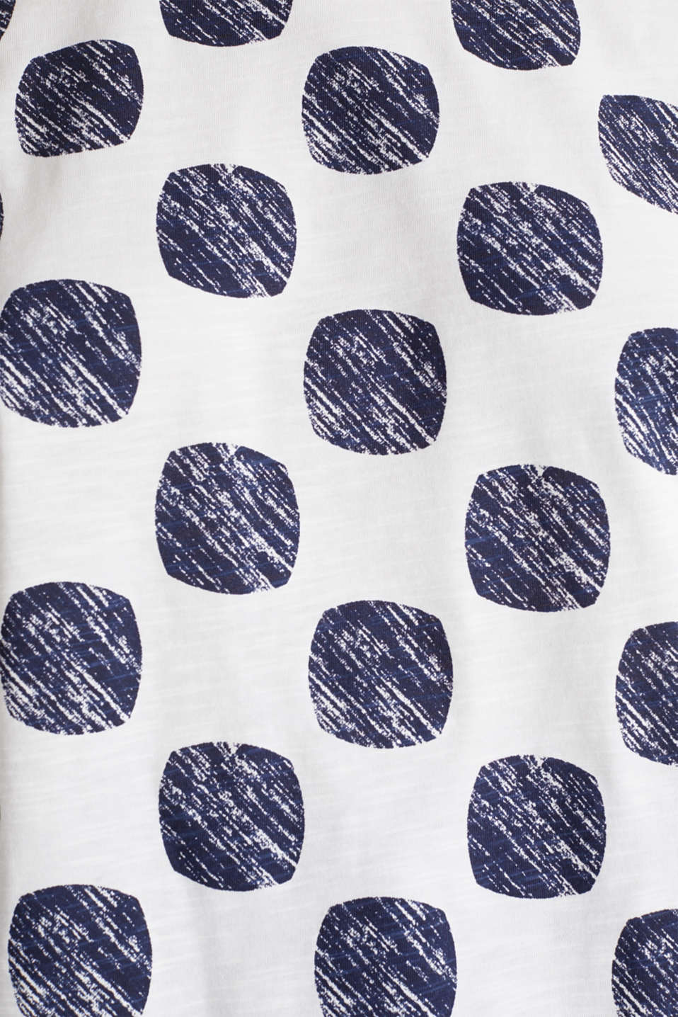 Slub T-shirt with polka dot print, 100% cotton, NAVY, detail image number 4