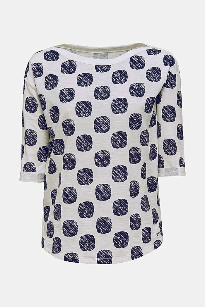 Pilkkupainettu Slub-paita 100 % puuvillaa, NAVY, detail image number 0