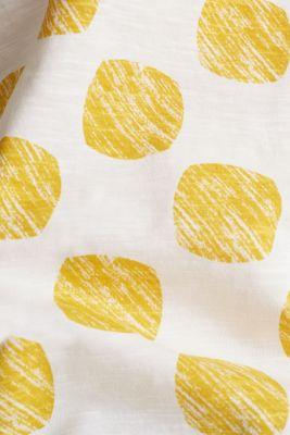 Slub T-shirt with polka dot print, 100% cotton