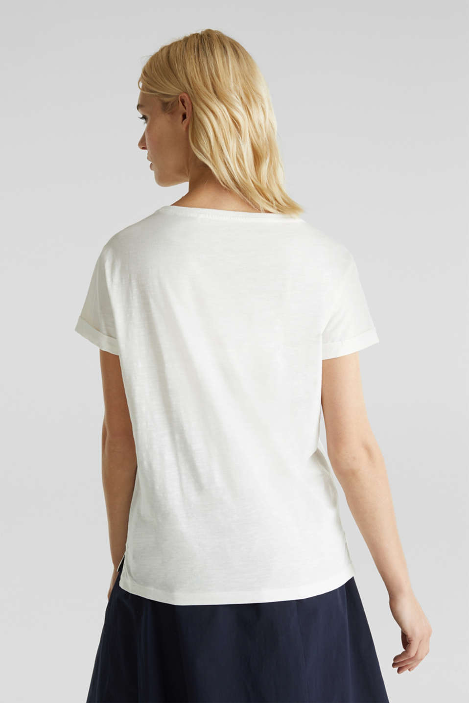 Print T-shirt in 100% cotton, OFF WHITE, detail image number 3
