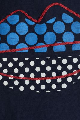 Print T-shirt in 100% cotton, NAVY, detail