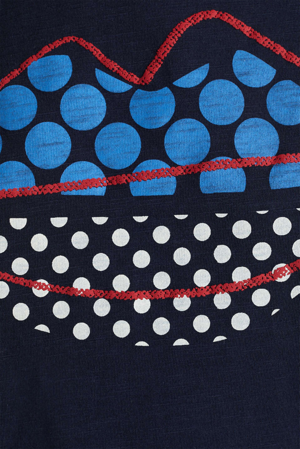 Print T-shirt in 100% cotton, NAVY, detail image number 4