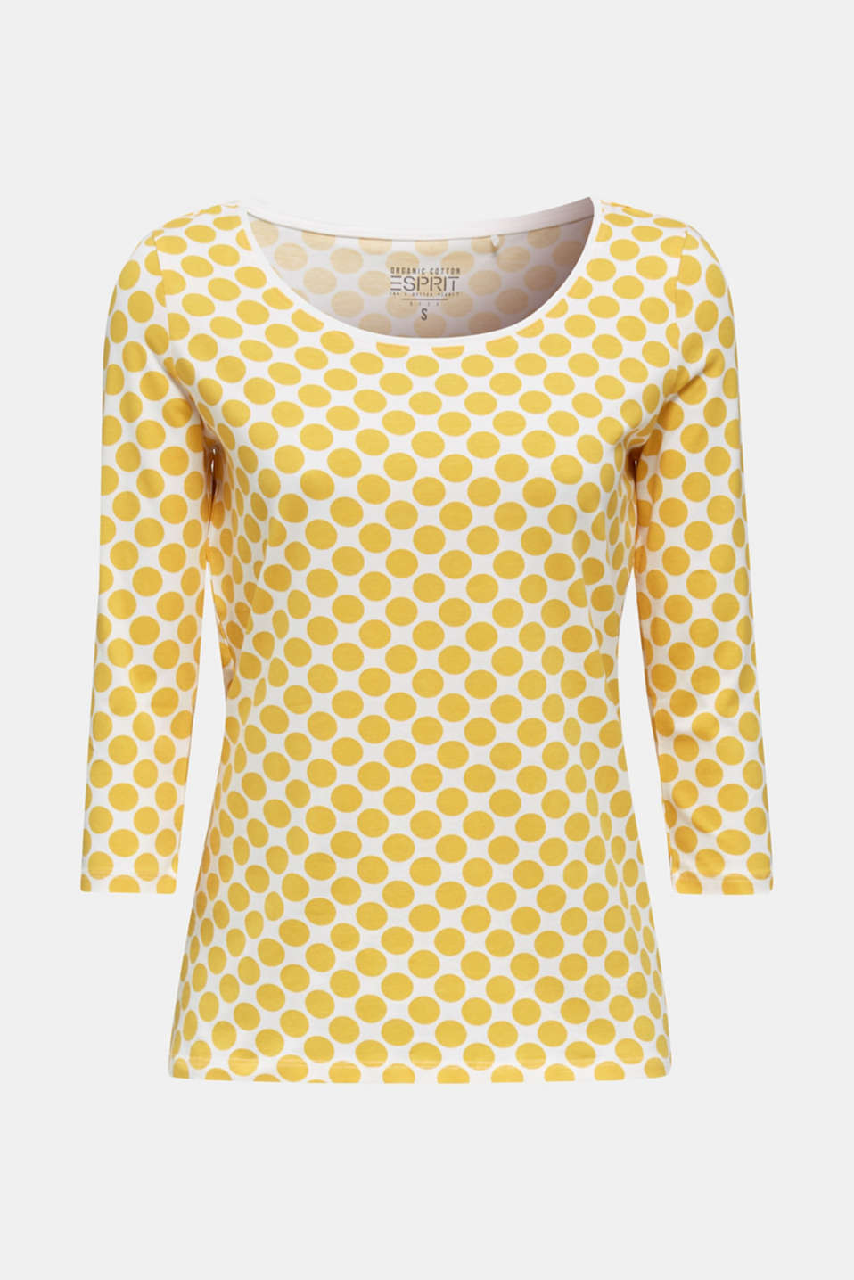 Organic cotton top with stretch, YELLOW, detail image number 6