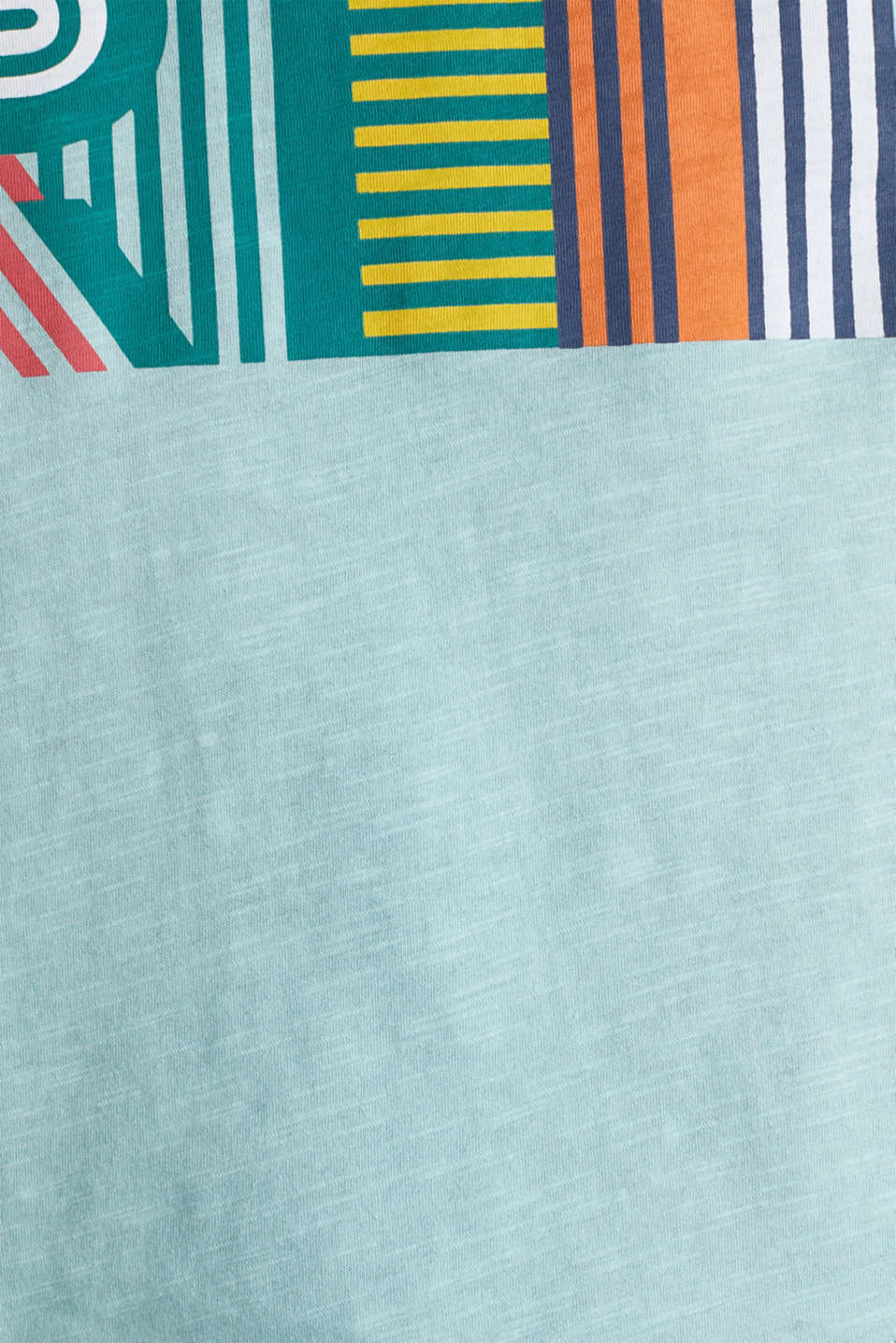 Slub T-shirt with print, 100% cotton, LIGHT AQUA GREEN, detail image number 4