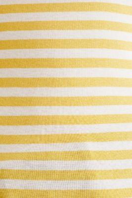 Top with a bateau neckline, 100% cotton, YELLOW 3, detail