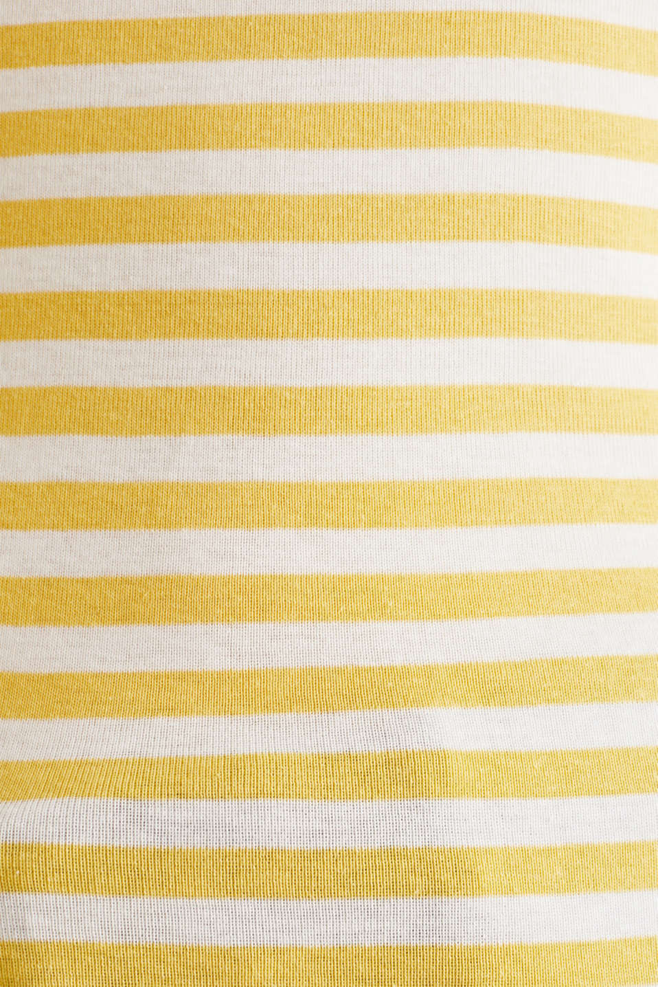 Top with a bateau neckline, 100% cotton, YELLOW 3, detail image number 4