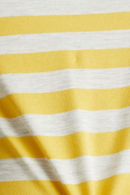 Stretch T-shirt with a stripe pattern, YELLOW 3, detail