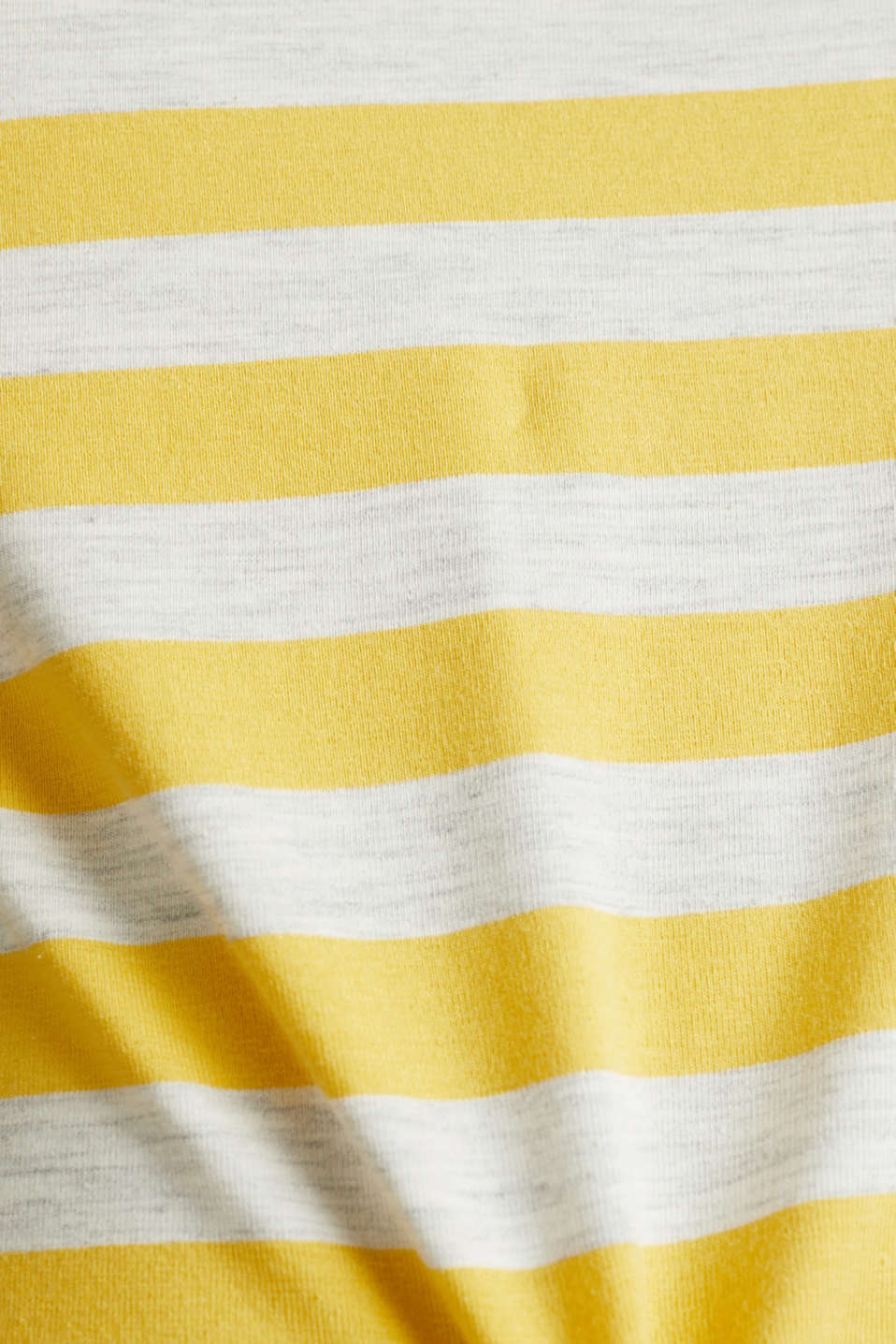 Stretch T-shirt with a stripe pattern, YELLOW 3, detail image number 4