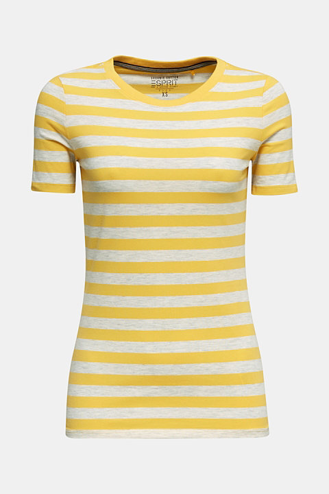 Stretch T-shirt with a stripe pattern