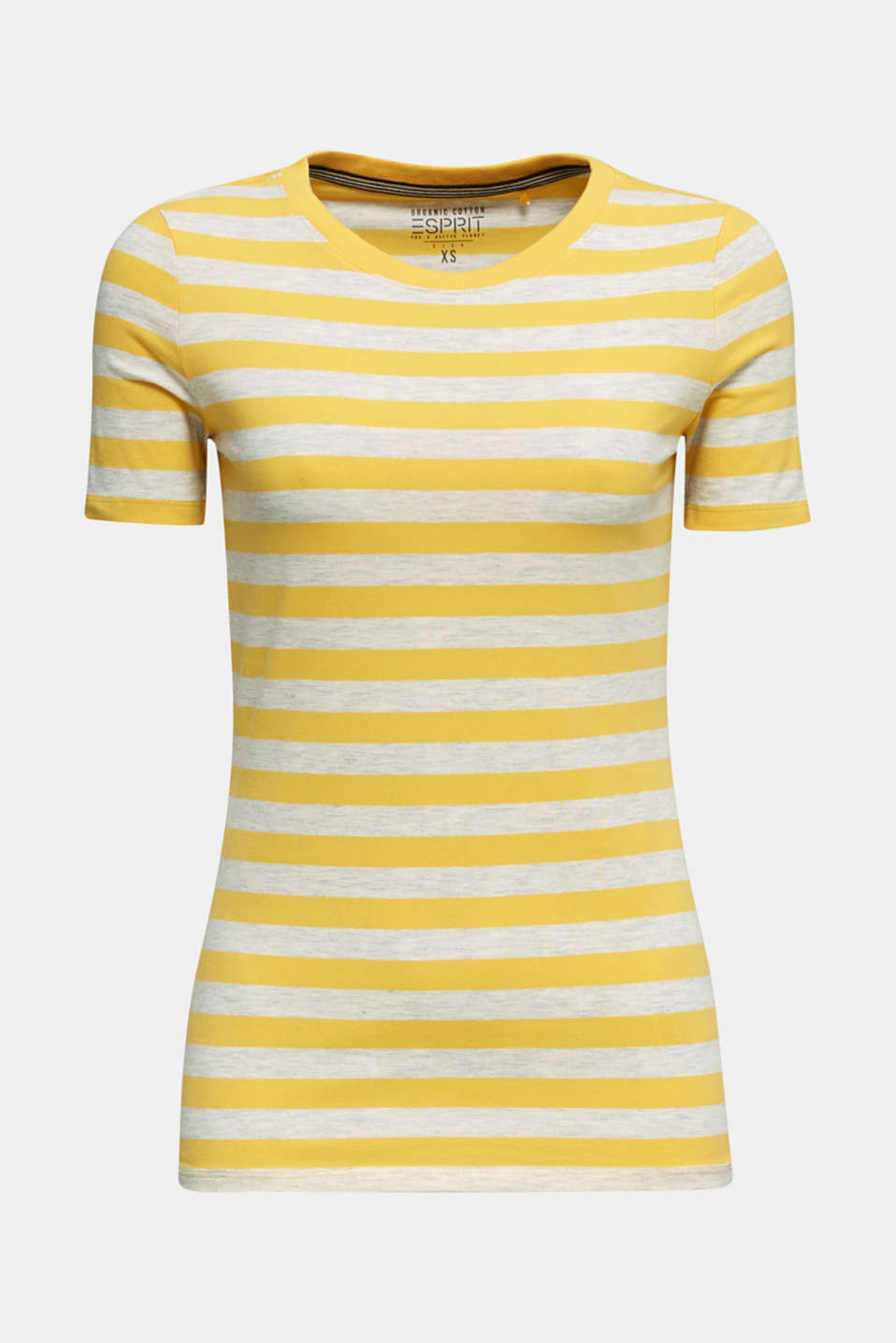Stretch T-shirt with a stripe pattern, YELLOW 3, detail image number 5