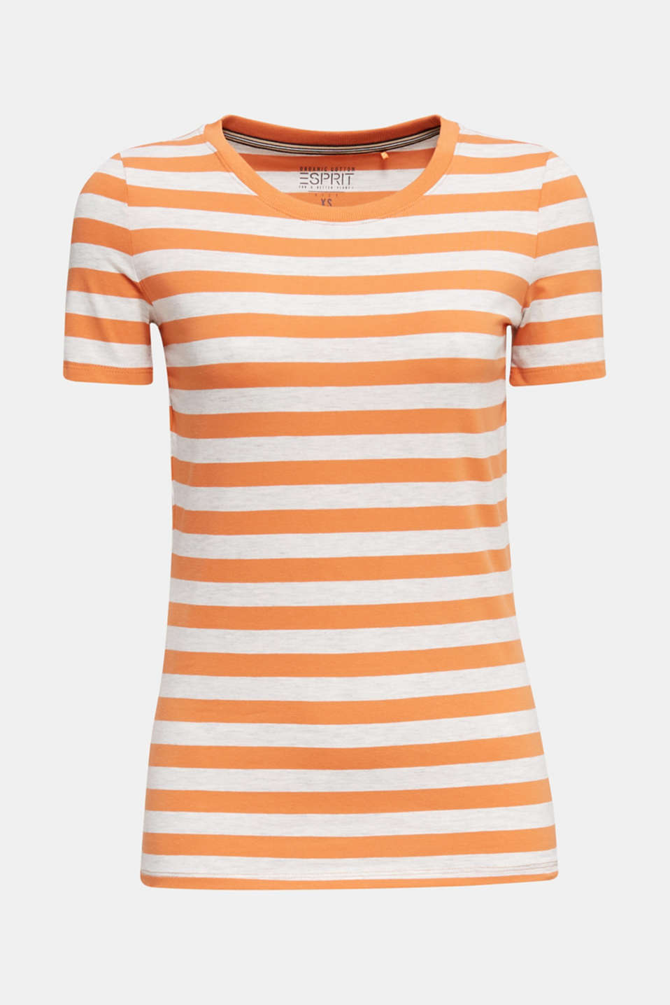 Stretch T-shirt with a stripe pattern, RUST ORANGE 4, detail image number 6