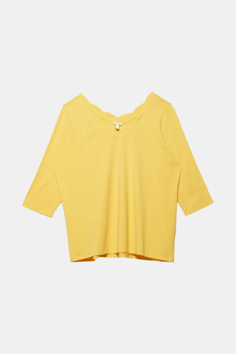 CURVY top with wavy details, YELLOW 3, detail image number 5