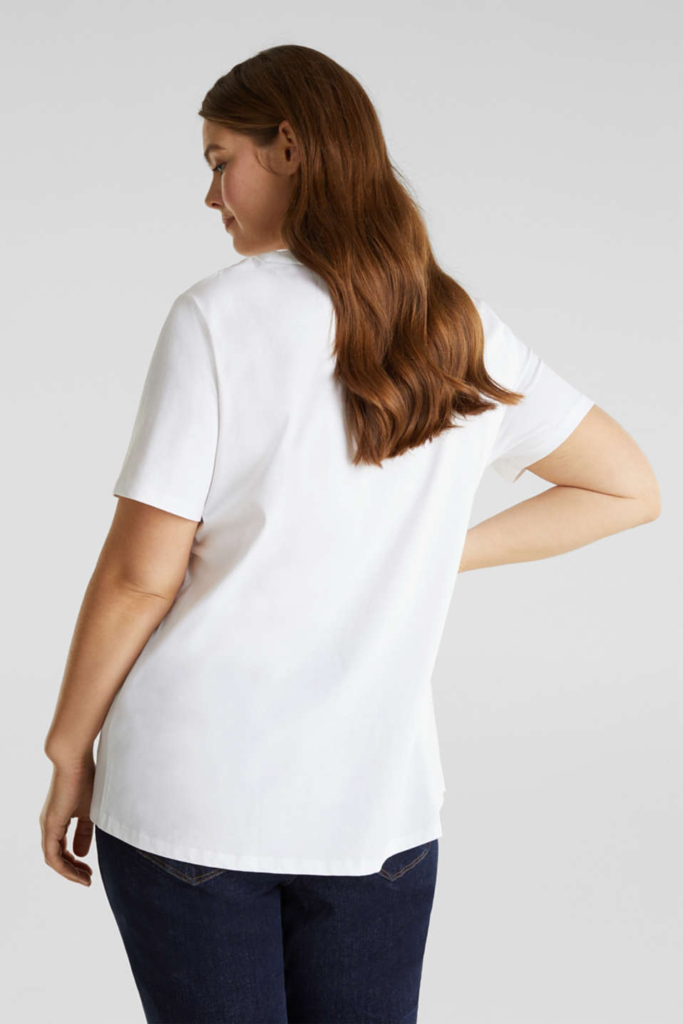 CURVY logo top, 100% organic cotton, WHITE, detail image number 2