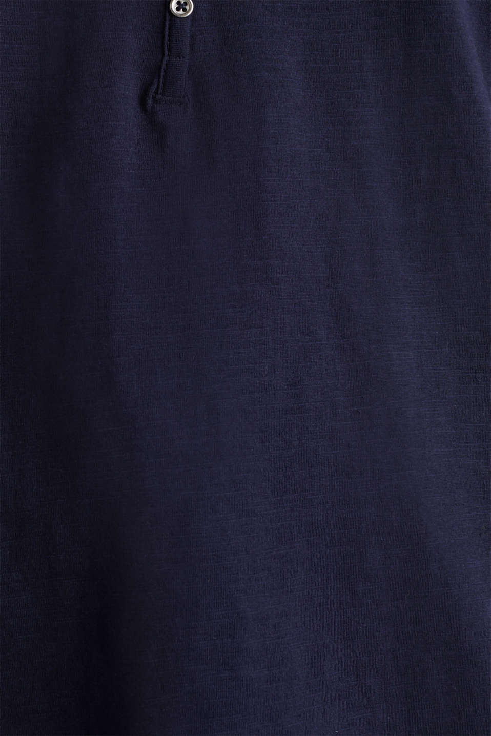 CURVY long sleeve top, organic cotton, NAVY, detail image number 4