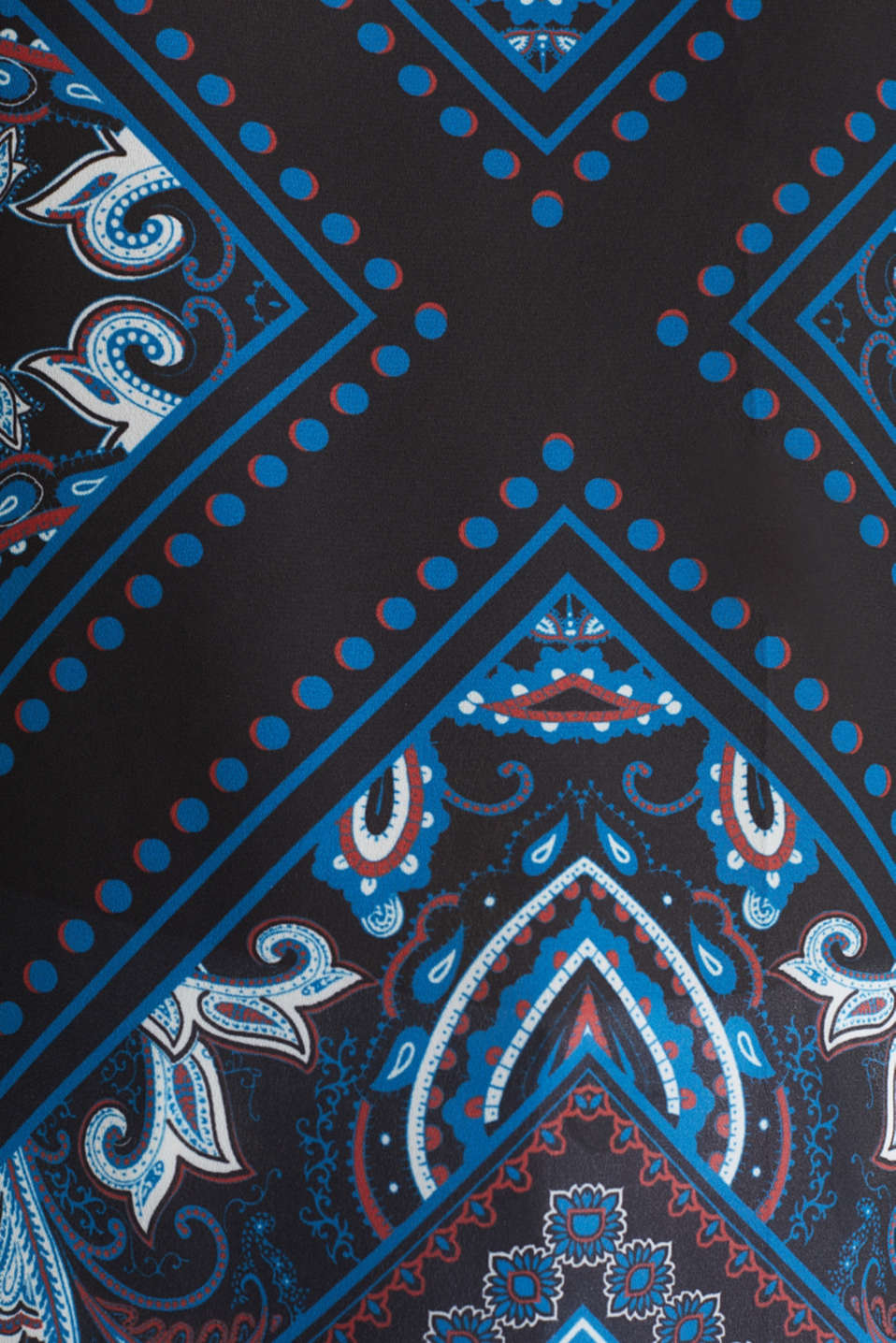 Mixed material blouse, NAVY 5, detail image number 3