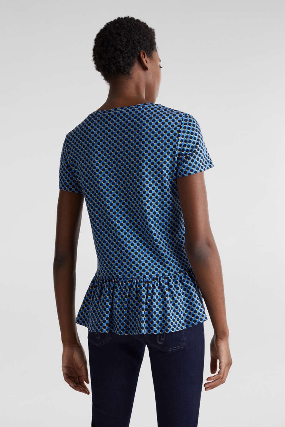 Print T-Shirt with flounce hem, LIGHT BLUE 4, detail image number 3