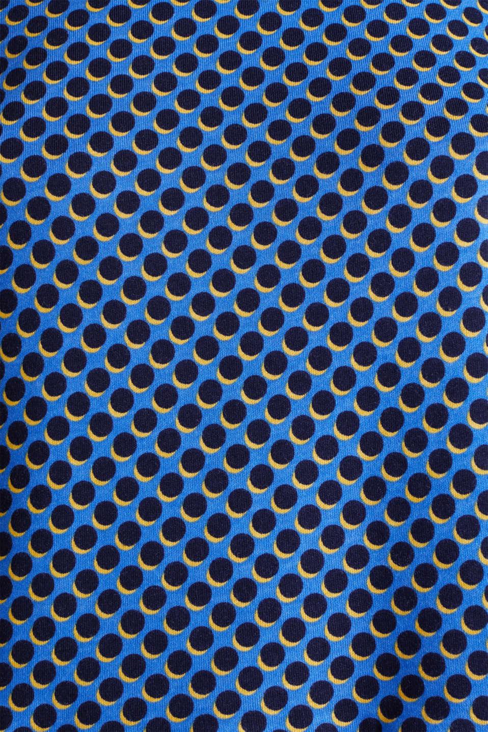Print T-Shirt with flounce hem, LIGHT BLUE 4, detail image number 4
