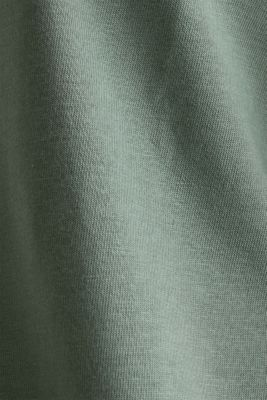T-shirt with turn-up sleeves, KHAKI GREEN, detail