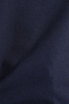 T-shirt with turn-up sleeves, NAVY, detail