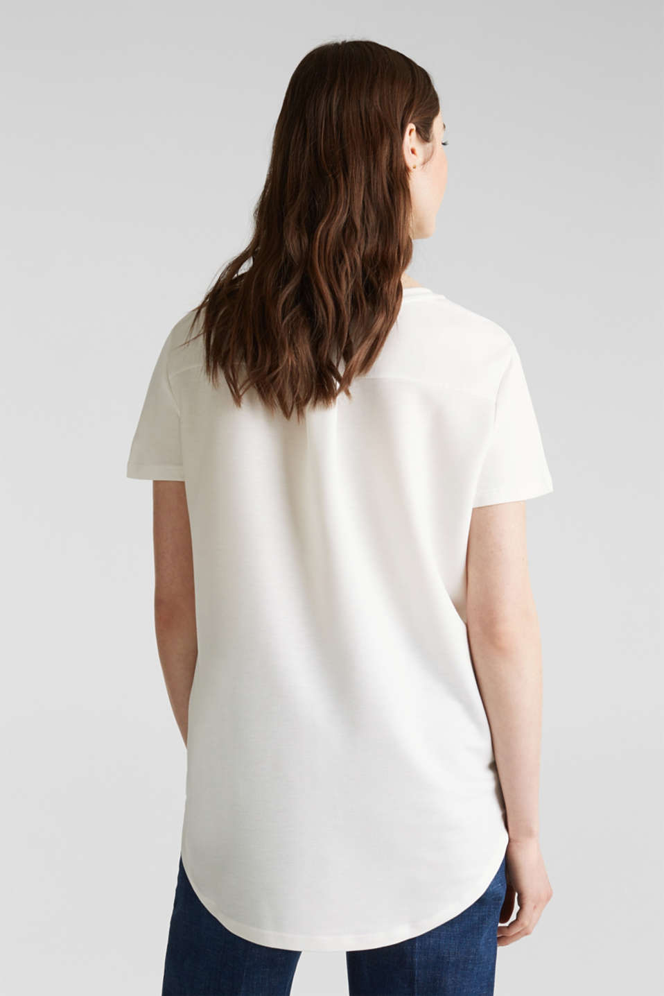 Utility top with a breast pocket, OFF WHITE, detail image number 3