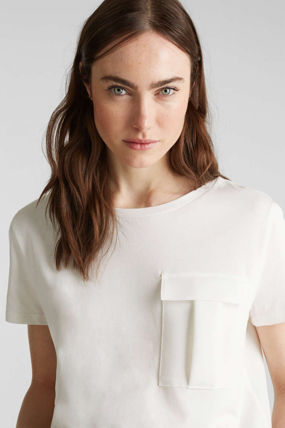 Utility top with a breast pocket, OFF WHITE, detail image number 2