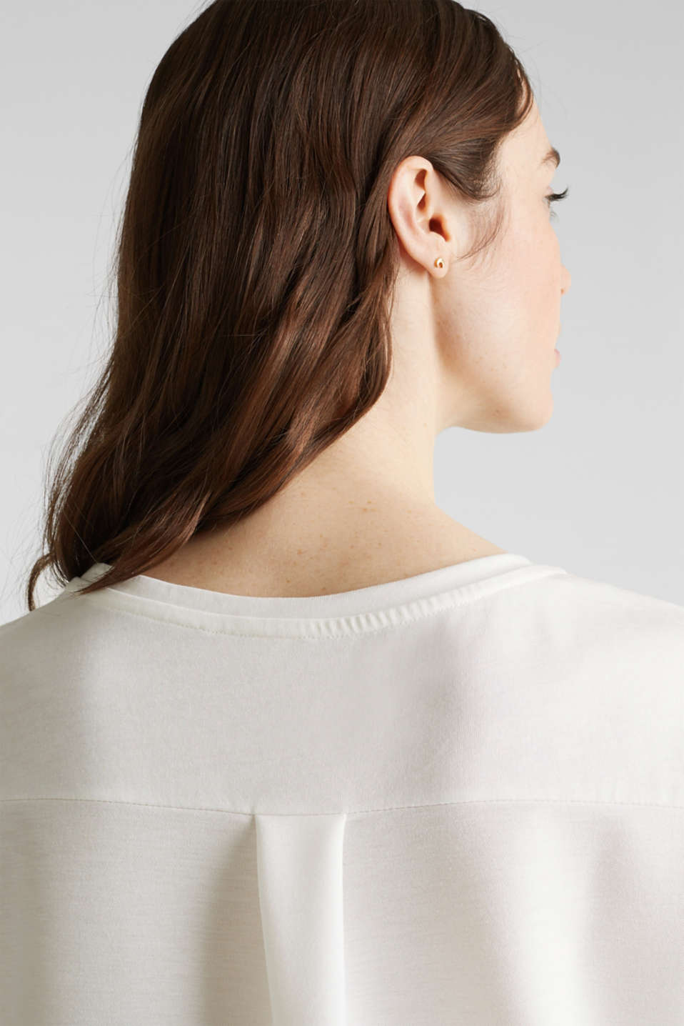 Utility top with a breast pocket, OFF WHITE, detail image number 5