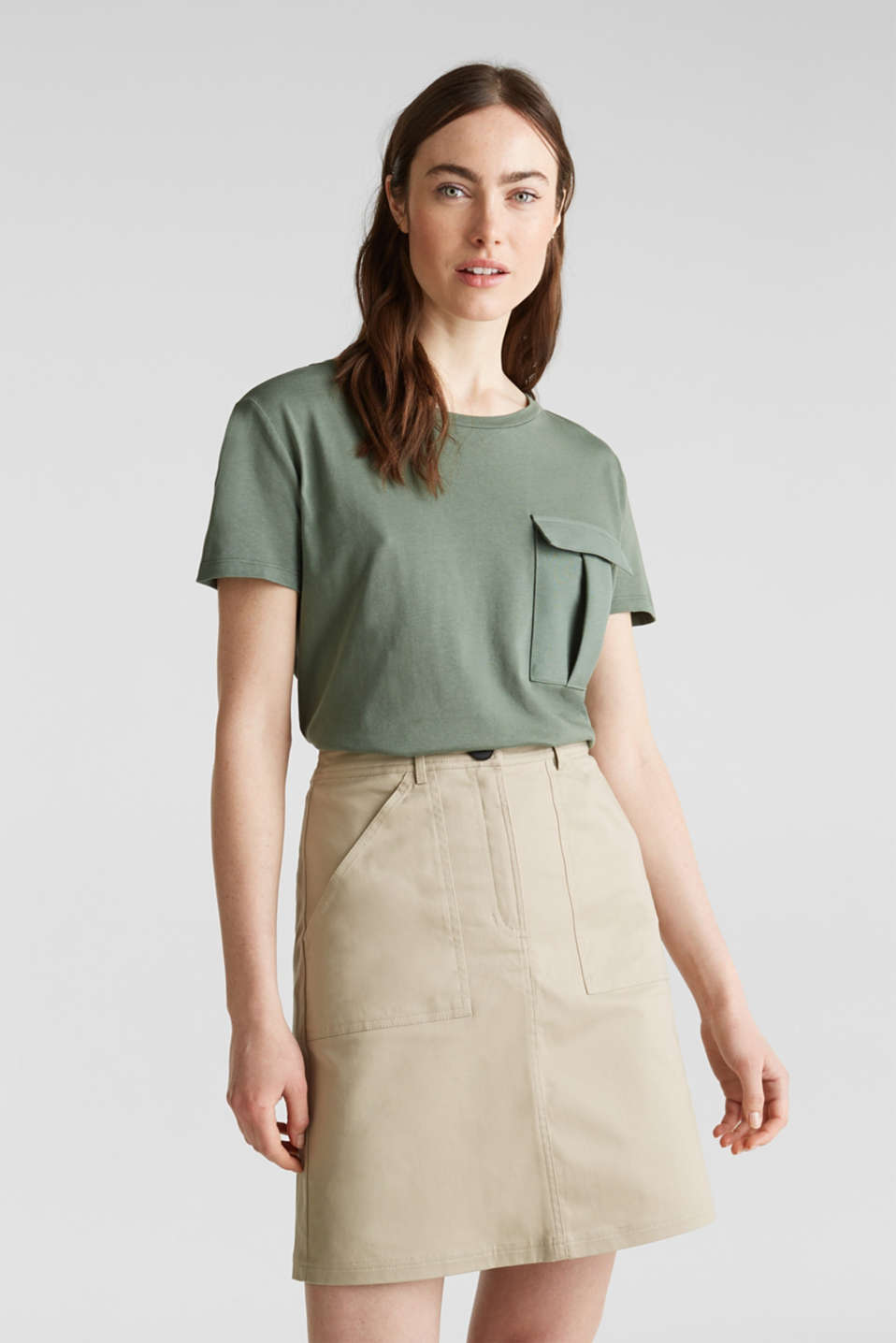 Esprit - Utility top with a breast pocket