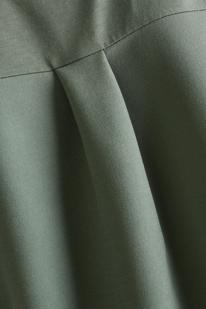Utility top with a breast pocket, KHAKI GREEN, detail image number 4