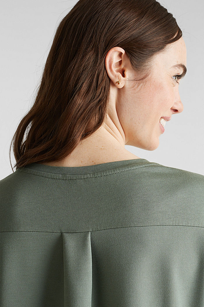 Utility top with a breast pocket, KHAKI GREEN, detail image number 5