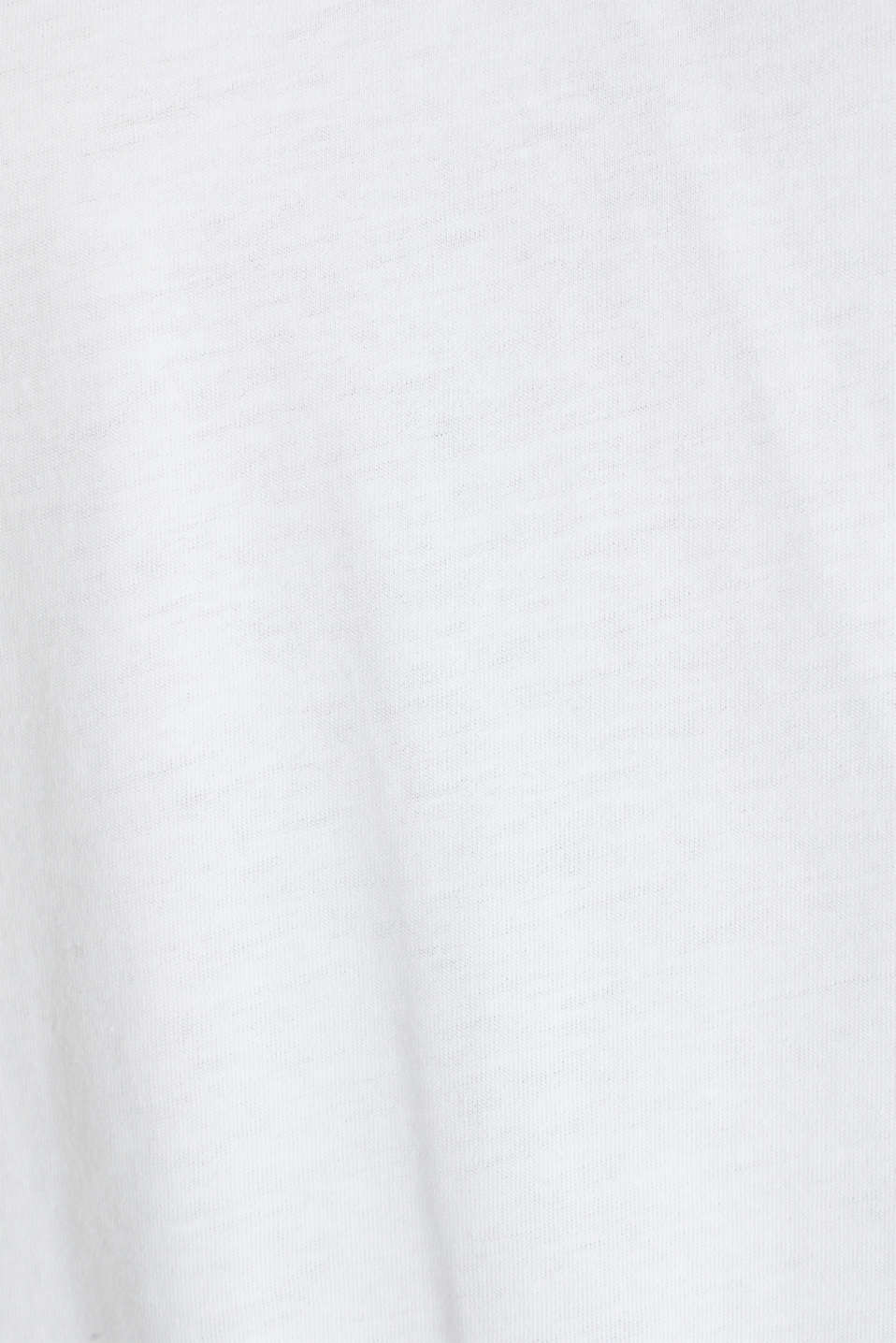 Open-work pattern top, 100% cotton, WHITE, detail image number 4