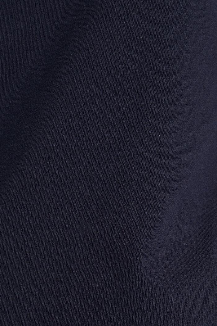 Katoenen shirt met kanten garneersel, NAVY, detail image number 3