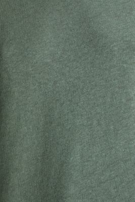 With linen: top with three-quarter length sleeves, KHAKI GREEN, detail
