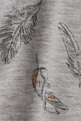 Jersey print top with organic cotton, LIGHT GREY 4, detail
