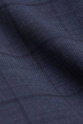 COOLMAX® CHECK mix + match: wool blend trousers, GREY BLUE 3, detail