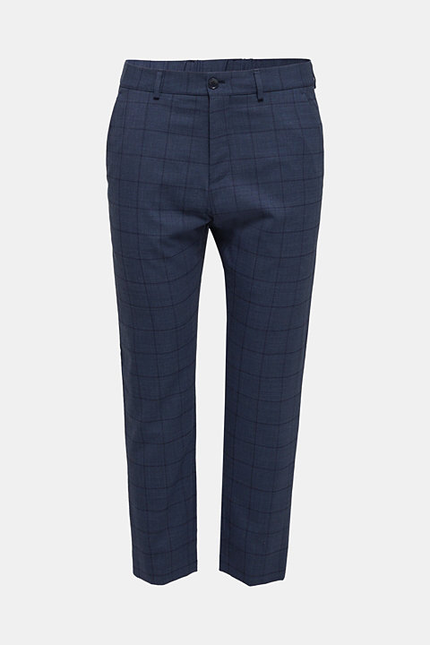 COOLMAX® CHECK mix + match: wool blend trousers