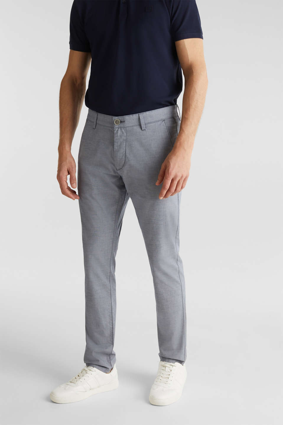 Esprit - Chambray-Chino aus Baumwoll-Stretch
