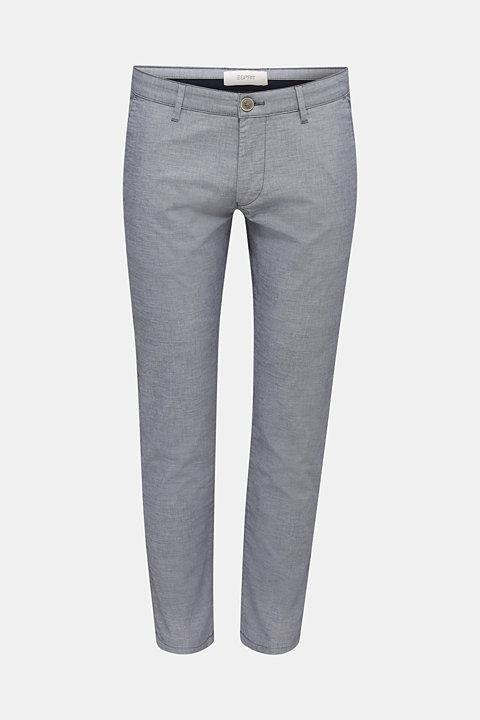 Chambray chinos in stretch cotton