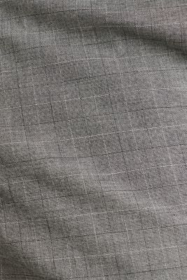 Stretch chinos with a fine check pattern, DARK GREY 3, detail