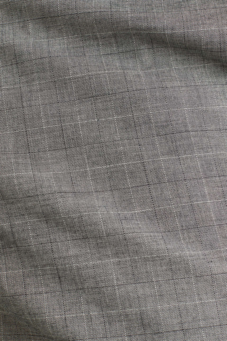 Stretch chinos with a fine check pattern, DARK GREY 3, detail image number 4
