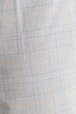 Prince of Wales check chinos with stretch and organic cotton, LIGHT GREY 3, detail