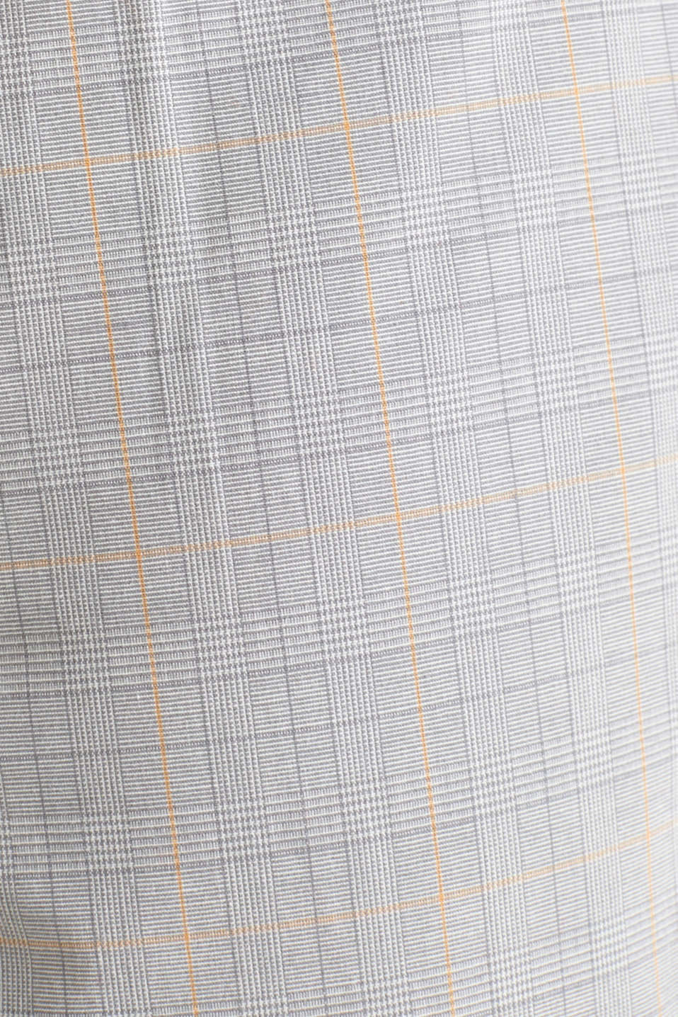 Prince of Wales check chinos with stretch and organic cotton, LIGHT GREY 3, detail image number 4
